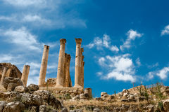 Roman city of Gerasa, Jerash, Jordan. Stock Photos