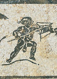 Roman city of Italica, Mosaic of the House of Neptune, Andalusia, Spain Stock Images