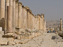 Roman city in Jerash Royalty Free Stock Photos