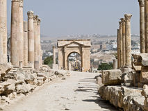 Roman city in Jerash Royalty Free Stock Photo