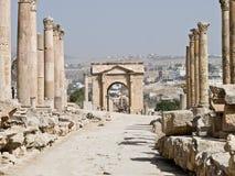 Roman city in Jerash Royalty Free Stock Photo