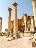 Roman city Jerash, Jordan. Main street cardo in Roman city. Jerash, Jordan royalty free stock photos