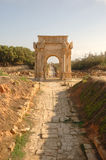 Roman city of Leptis Magna, Libya Royalty Free Stock Photography