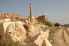 Roman city of Leptis Magna, Libya Royalty Free Stock Photography