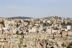 Roman City Of Gerasa And The Modern Jerash (in The Background), Jordan