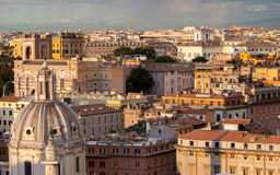 Roman cityscape. Royalty Free Stock Photo