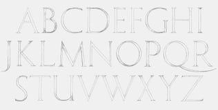 Roman Classic Alphabet moderno Fotografia de Stock