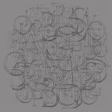 Roman Classic Alphabet moderno Fotografie Stock Libere da Diritti