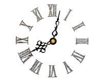 Roman clock face Stock Image