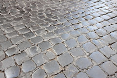 Roman Cobblestone Street Stock Image