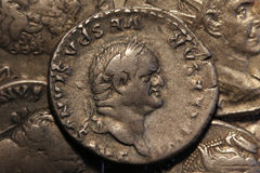 Roman coin Vespasian royalty free stock image