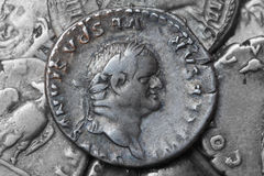 Roman coin Vespasian Royalty Free Stock Images
