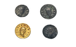 Roman coins Royalty Free Stock Image