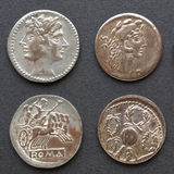 Roman coins Stock Images