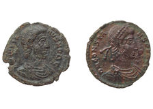 Roman coins Stock Photography