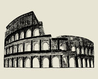 Roman coliseum. Royalty Free Stock Photo