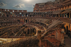Roman Coliseum. Sunset at the Roman Coliseum Rome Royalty Free Stock Images