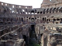 Roman Coliseum. Picture taken the 5 th of September 2012 in Rome (Coliseum). Cloudy day royalty free stock photography