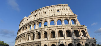 Roman Coliseum. Ancient ruins of the Coliseum in Rome Stock Images