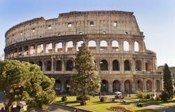 Roman Coliseum celebra la Navidad imagen de archivo libre de regalías