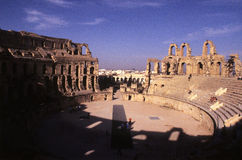 Roman Coliseum- El Djem, Tunisia stock photography