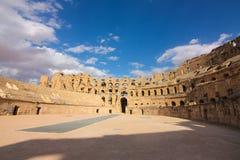 Roman Coliseum em Tunísia Fotos de Stock Royalty Free