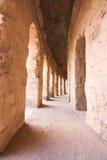 Roman Coliseum em Tunísia Foto de Stock