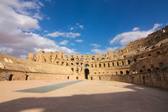 Roman Coliseum en Tunisie Photos libres de droits