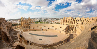 Roman Coliseum en Tunisie Photos stock
