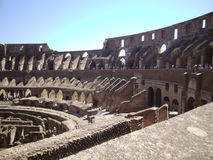 Roman Coliseum. Even in a state of renovation, the Roman Coliseum leaves visitors with a sense of awe stock images