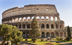 Roman Coliseum firar jul royaltyfri bild
