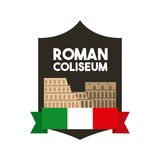Roman coliseum icon. Italy culture design. Vector graphic. Italy culture concept represented by roman coliseum icon. Colorfull and flat illustration Royalty Free Stock Image