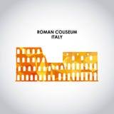 Roman coliseum icon. Italy culture design. Vector graphic. Italy culture concept represented by roman coliseum icon. Colorfull and Polygonal illustration Stock Photo