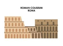 Roman coliseum icon. Italy culture design. Vector graphic. Italy culture concept represented by roman coliseum icon. Isolated and flat illustration Royalty Free Stock Images