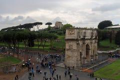 Roman Coliseum impresionante fotos de archivo libres de regalías