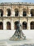 Roman Coliseum - Nîmes, Frankrijk stock afbeeldingen