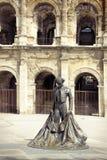 Roman Coliseum - Nîmes, Frankrijk stock foto