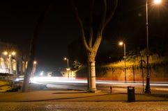 Roman Coliseum na noite em Roma Imagens de Stock Royalty Free