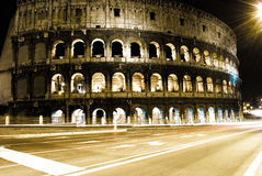 Roman Coliseum by night Stock Photo