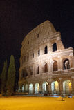 Roman Coliseum at night royalty free stock photo