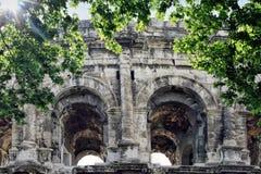 Roman Coliseum - Nimes, France Royalty Free Stock Photos