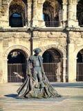 Roman Coliseum - Nimes, France Stock Images