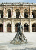 Roman Coliseum - Nimes, France Stock Images