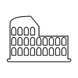 Roman coliseum ruins isolated icon Royalty Free Stock Image