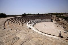Roman coliseum, Salamis, North Cyprus Royalty Free Stock Photography