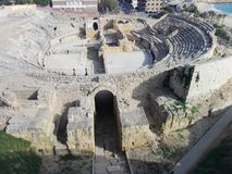 Roman Coliseum Tarragona stock photography