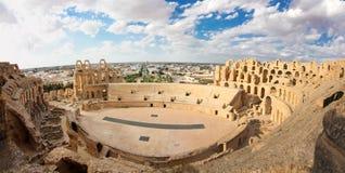 Roman Coliseum in Tunesië Stock Foto's