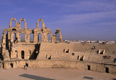 Roman coliseum- Tunisia Stock Images