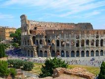 Roman Coliseum, una delle sette meraviglie moderne del mondo immagini stock libere da diritti