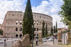 Roman ColiseumThe old Colosseum in Rome, the gladiators fight. The old Colosseum in Rome, the gladiators fight Royalty Free Stock Image